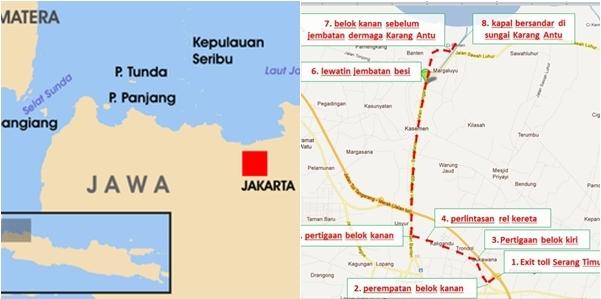 Peta Menuju Pulau Tunda
